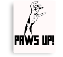 Paws Up! Canvas Print