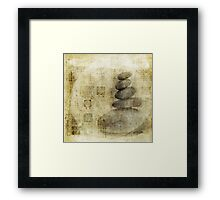 Stone Meditation Framed Print