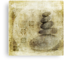 Stone Meditation Canvas Print