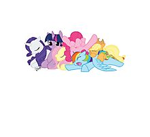 Sleepy Ponies Photographic Print