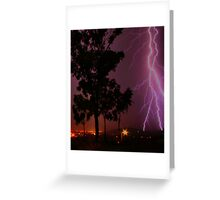Lightning over Townsville Greeting Card