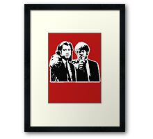 Pulp Fiction Black and White Framed Print