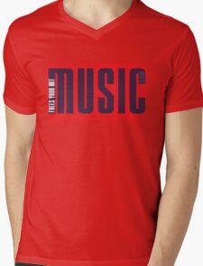 LS - MUSIC simple #1 Mens V-Neck T-Shirt