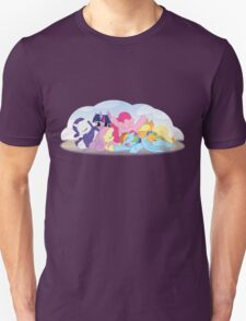 Sleepy Ponies with Background Unisex T-Shirt
