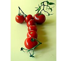 T is for TOMATOES! Photographic Print