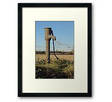 Old Water Pump Framed Print