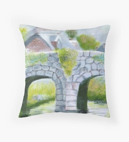 Quietly run the waters Throw Pillow