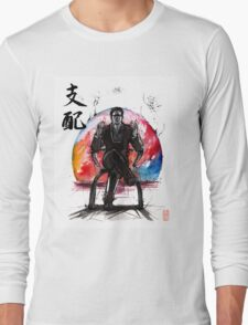 Illusive Man from Mass Effect with calligraphy Long Sleeve T-Shirt