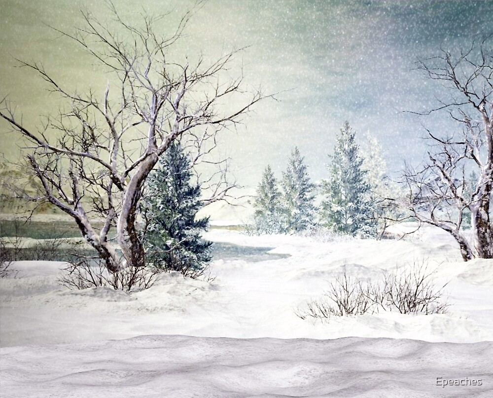 A Snow Scene by Epeaches