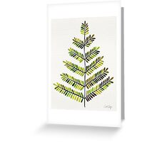 Green Leaflets Greeting Card
