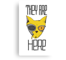They are here - cats are aliens Canvas Print