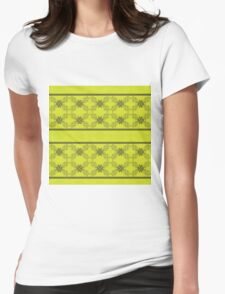 Green Ornament Womens Fitted T-Shirt