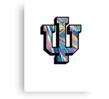 Indiana University Shiny Rainbow Logo Canvas Print
