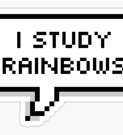I study rainbows Sticker