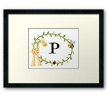 Nursery Letters P Framed Print