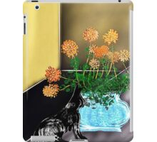 Yellow room with vase, flowers, and cat iPad Case/Skin