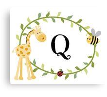 Nursery Letters Q Canvas Print