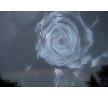 Surreal Rose and sky Photographic Print