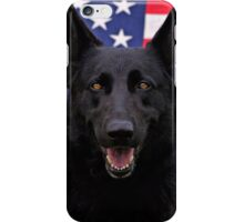 Black German Shepherd - U.S.A. iPhone Case/Skin