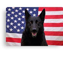 Black German Shepherd - U.S.A. Canvas Print