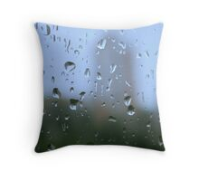 mystic silhouette of city Throw Pillow