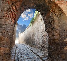 fantastic stone passage by Sergieiev