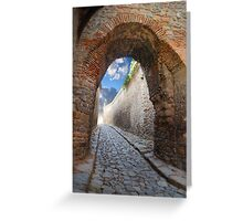 fantastic stone passage Greeting Card