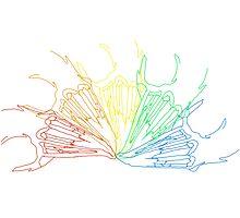 Rainbow Rabbit Skull Photographic Print