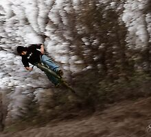The Freedom of Flight - Catching Air on a Trick Bike by Wayne King