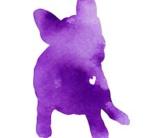 Frenchie abstract dog silhouette by Joanna Szmerdt