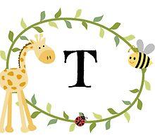 Nursery Letters T by mezzilicious
