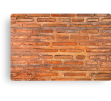 ansient bricking wall  Canvas Print