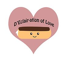 Cute and funny D'Eclair-ation of Love by Eggtooth