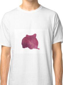 Hamster silhouette watercolor art print painting Classic T-Shirt