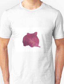 Hamster silhouette watercolor art print painting Unisex T-Shirt