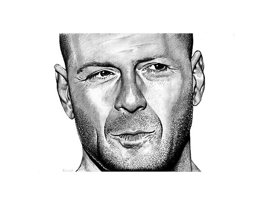 Portrait of Bruce Willis by Jan Szymczuk