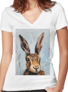 Holly Hare Women's Fitted V-Neck T-Shirt