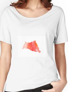 Abstract hamster silhouette large poster Women's Relaxed Fit T-Shirt