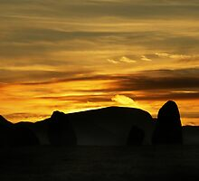 Sunset over Castlerigg Stone Circle by David Robinson