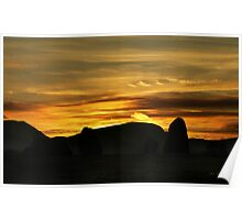 Sunset over Castlerigg Stone Circle Poster