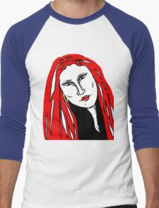 Beautiful Woman Red For Love Men's Baseball ¾ T-Shirt