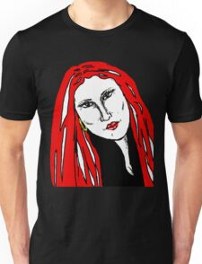 Beautiful Woman Red For Love Unisex T-Shirt
