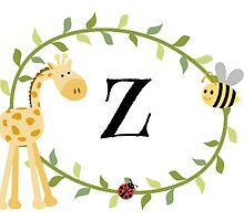 Nursery Letters Z by mezzilicious