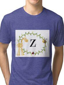 Nursery Letters Z Tri-blend T-Shirt