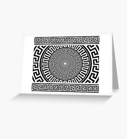 Greek pattern Greeting Card