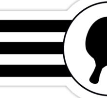 Table Tennis Stripes Sticker