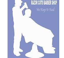 Razor Cuts Barber Shop Logo by Kory Richardson