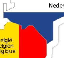 Benelux Flag Map Sticker