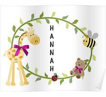 Hannah - Nursery Names Poster