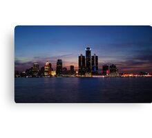 Detroit Lights at Sunset Canvas Print